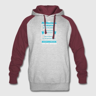 Brother In Heaven Shirt - Colorblock Hoodie