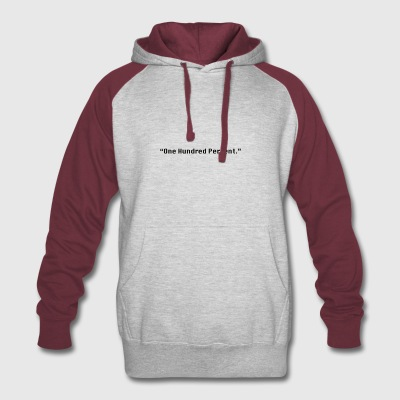 One Hundred Percent. - Colorblock Hoodie