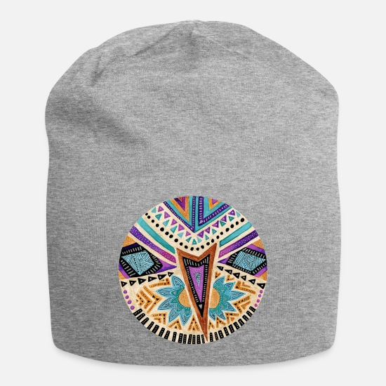Tribal Caps - Tribal folk icon - Beanie heather gray
