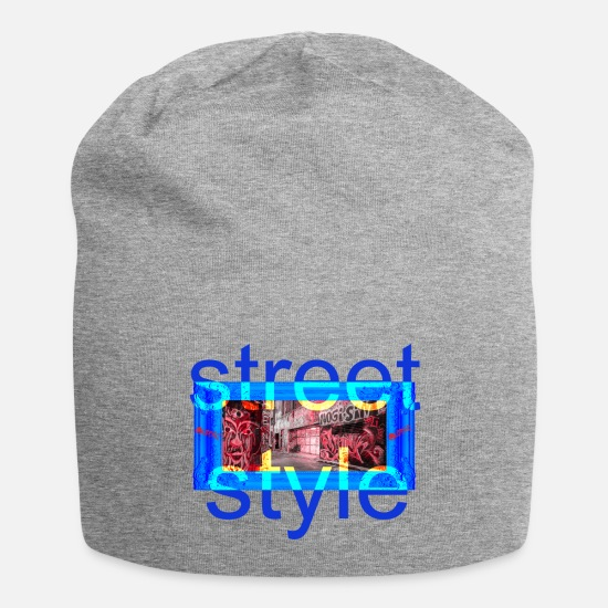 Picture Caps - STREET STYLE PICTURE - Beanie heather gray