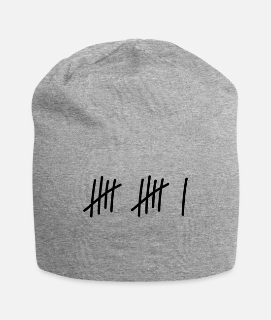 11 Caps & Hats - 11 lines // 11 times // birthday // gift // child - Beanie heather gray