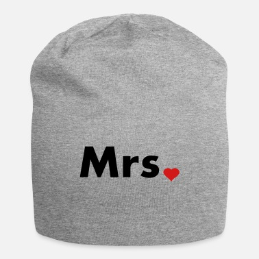 Mr And Mrs Mrs with heart dot - part of Mr and Mrs set - Beanie