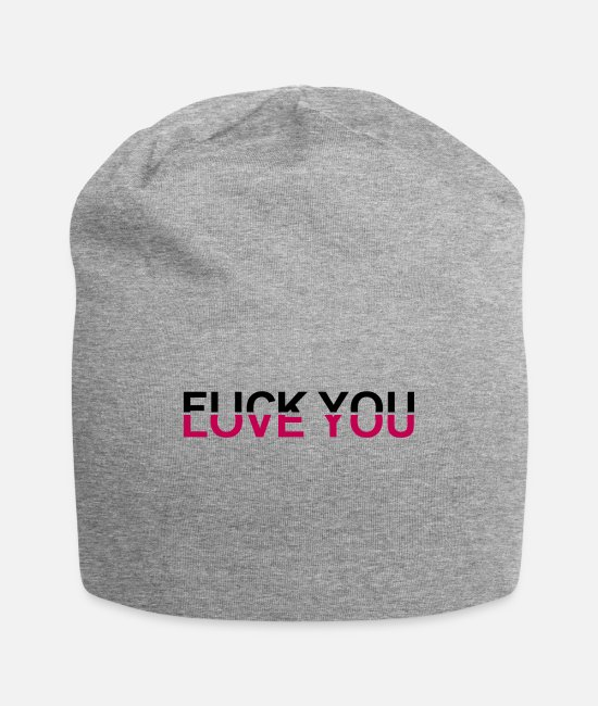 Love Fuck Caps & Hats - Fuck You - Love You - Beanie heather gray