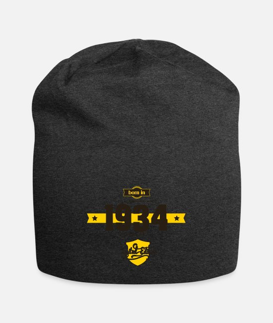 Born In Caps & Hats - Born in 1934 - Beanie charcoal gray