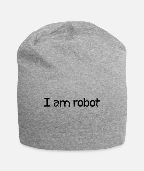 Space Caps & Hats - I am robot - Beanie heather gray