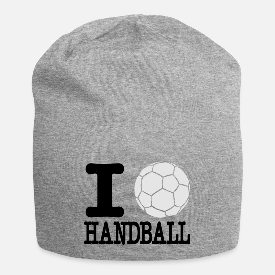 Handball Caps - i love handball ball 2c - Beanie heather gray