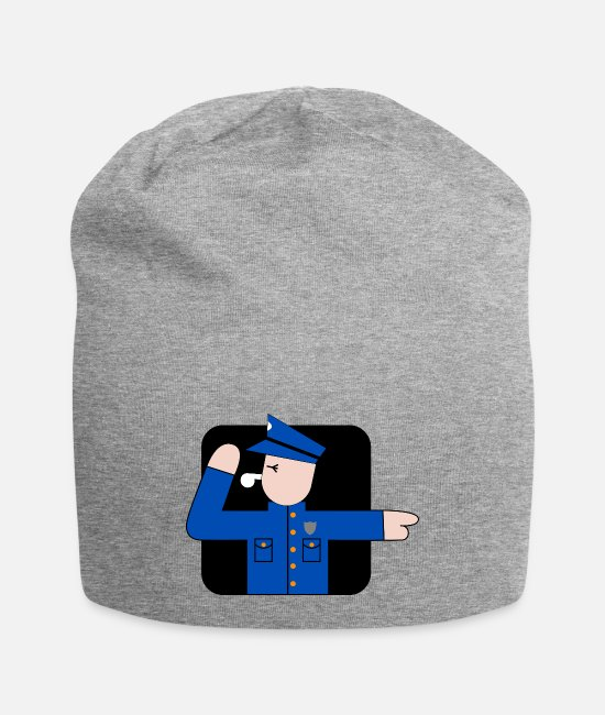 Office Caps & Hats - policeman - Beanie heather gray