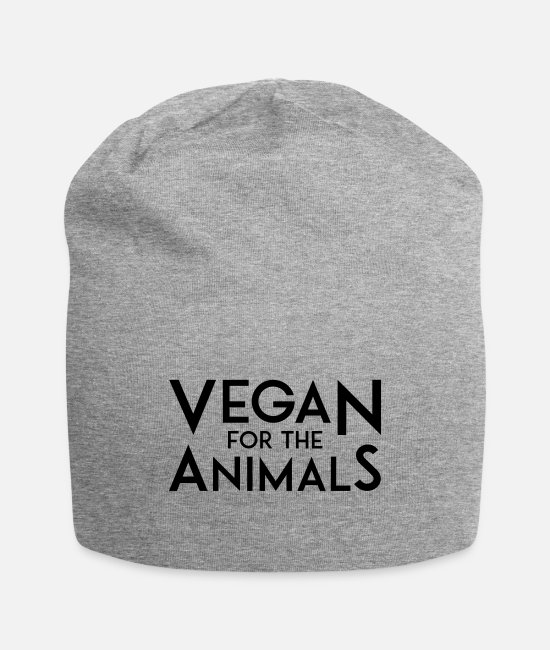 Vegan For Animals Caps & Hats - VEGAN FOR THE ANIMALS - Beanie heather gray