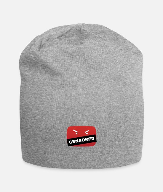 Youtuber Caps - YouTube Be hating - Beanie heather gray