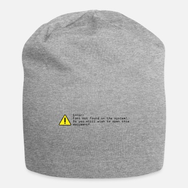 Font MISSING-FONT - Beanie