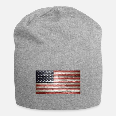 American Flag In Distress Distressed American Flag - Beanie