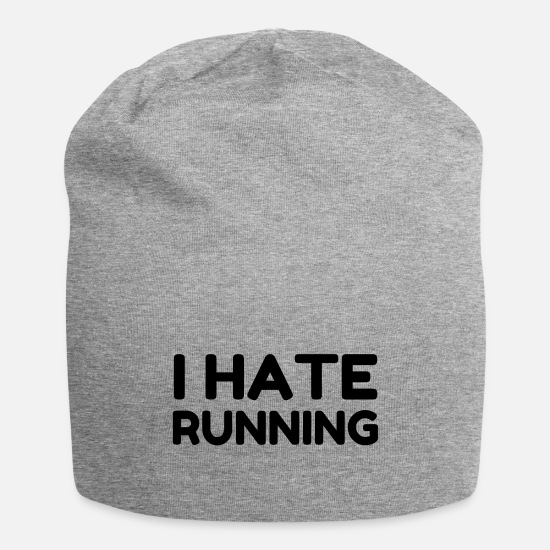 Envy Caps - I HATE RUNNING - Beanie heather gray