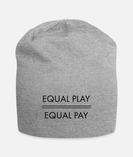 Play Caps & Hats - Equal Play Equal Pay - Beanie heather gray