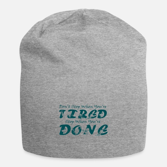 Break Caps - Work Till Done - Beanie heather gray