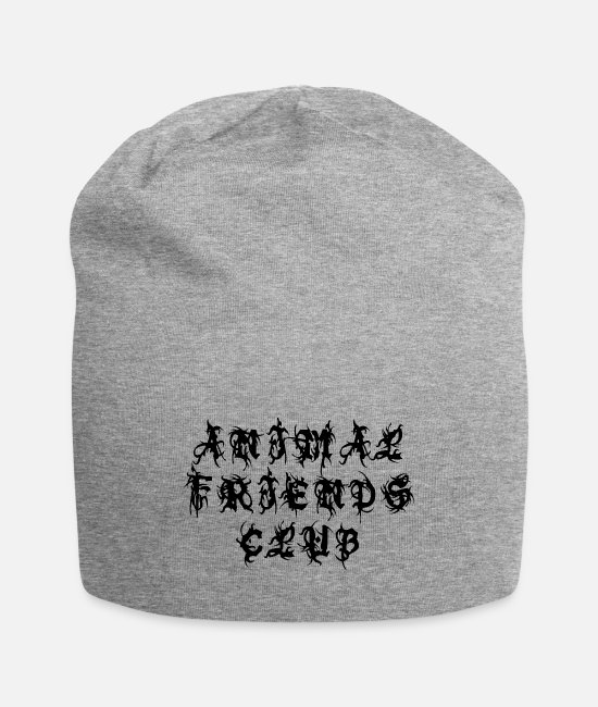 Animal World Caps & Hats - Animal Friends Club - Sayings Statement Gift Ideas - Beanie heather gray