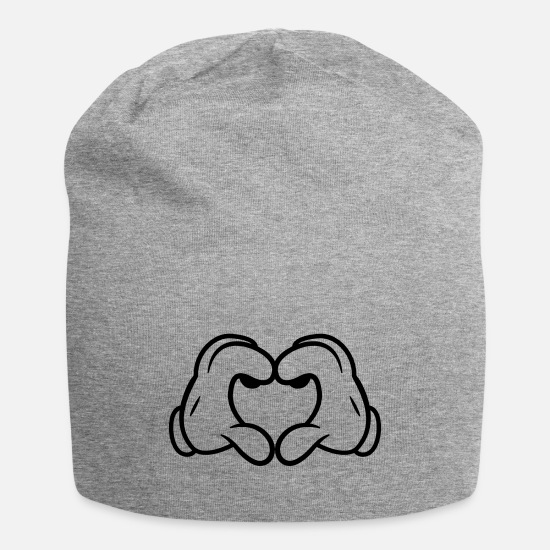 Hand Caps - Mickey's Love Sign - Beanie heather gray