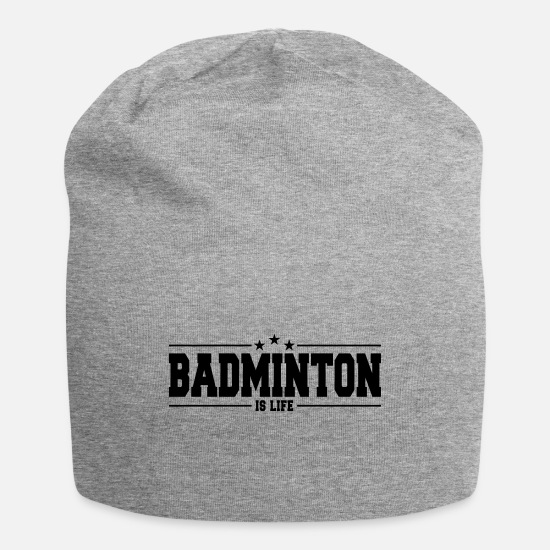 Teamsport Caps - badminton is life 1 - Beanie heather gray