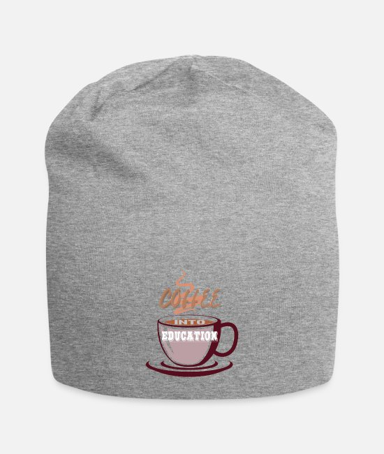 School Beginner Caps & Hats - Coffee into Education - Beanie heather gray