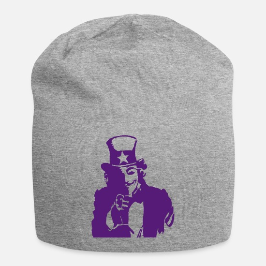 Uncle Caps - Uncle Sam with a smile - Beanie heather gray