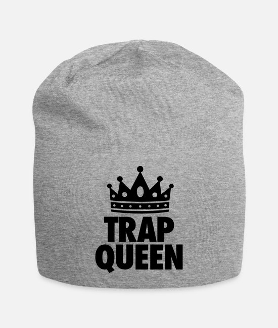 Womens Caps & Hats - Trap Queen - Beanie heather gray
