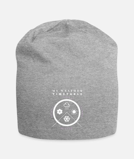 Weather Caps & Hats - cool shirt Weather Timetable nice gift idea - Beanie heather gray