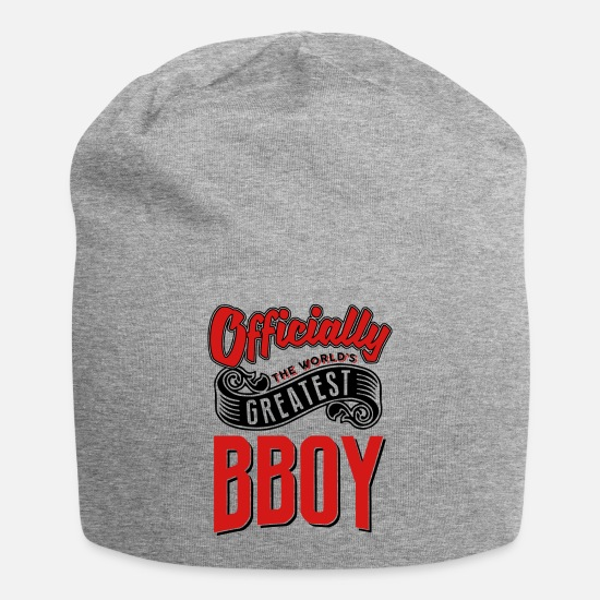 World Caps - officially the Worlds greatest bboy - Beanie heather gray