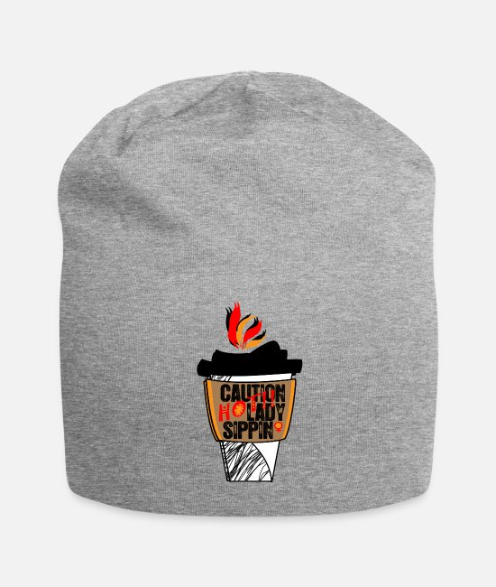 Tea Caps & Hats - Hot Ladies Sip Mug 4 - Beanie heather gray