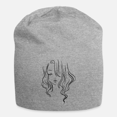 Girl Face drawing - Beanie