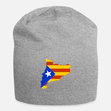 Catalonia Catalonia map with flag - Beanie
