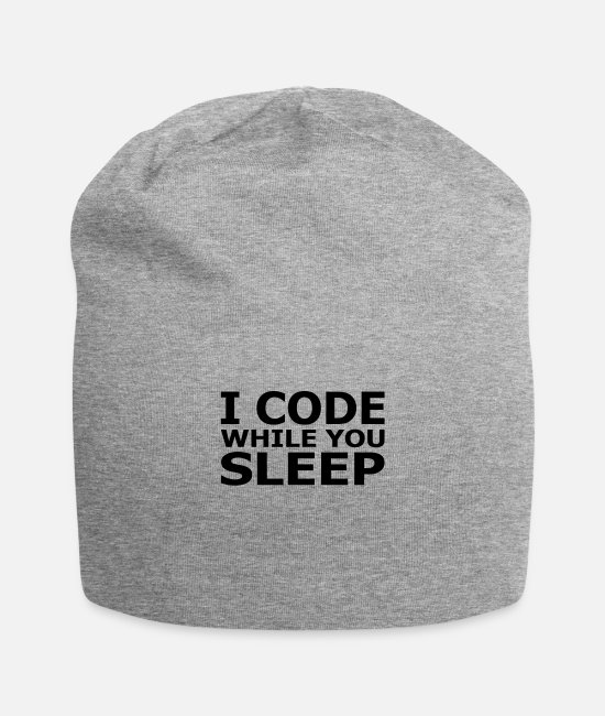 Programmer Caps & Hats - I Code While You Sleep - Beanie heather gray