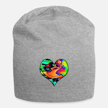 Abstract Music Abstract bold and colorful musical instrument hear - Beanie