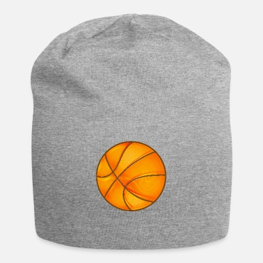 Element Basketball in bright shiny glowing orange. - Beanie