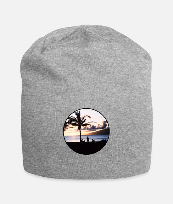 Nature Caps & Hats - Nature - Photography - Vacation - Island - Palm - Beanie heather gray