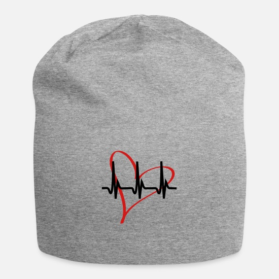 Love Caps - heartbeat - Beanie heather gray