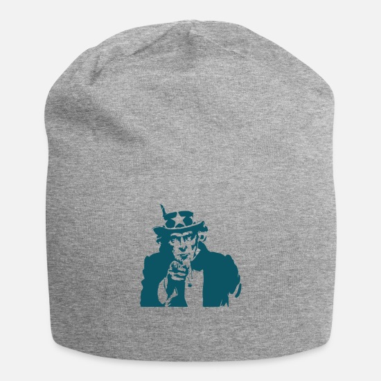 Americana Caps - Uncle Sam Icon - Beanie heather gray