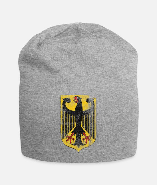 Made Caps & Hats - German Coat of Arms Germany Symbol - Beanie heather gray