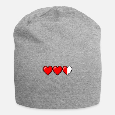 Pixel pixel hearts png - Beanie
