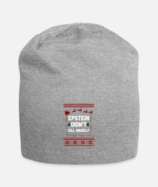 Stag Caps & Hats - Epstein Didn t Kill Himself Christmas - Beanie heather gray
