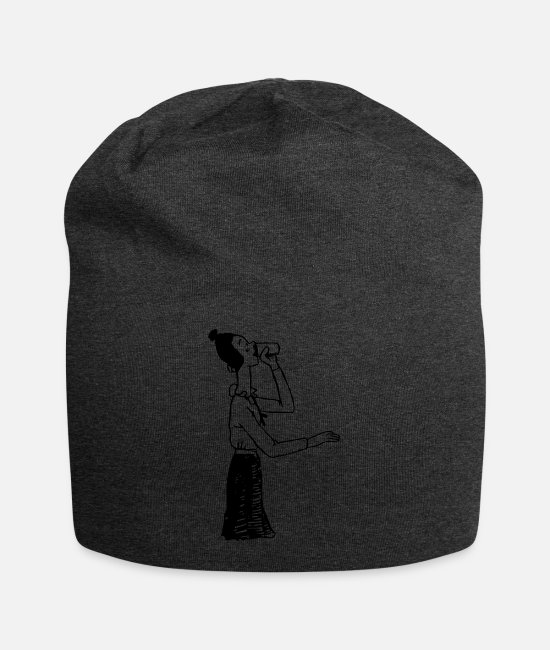Young Caps & Hats - Drink Cartoon - Beanie charcoal gray