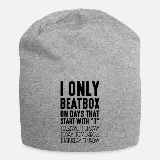 Beatbox Caps - i only beatbox on days that start with t - Beanie heather gray