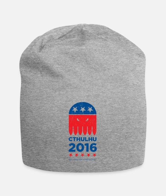 Distressed Caps & Hats - Vote CTHULHU 2016 - Beanie heather gray