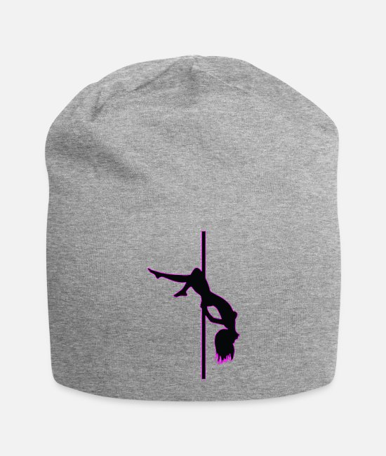 Pole Dance Caps & Hats - Stripper - Pole Dancing - Dancer - Nude - Naked - Beanie heather gray