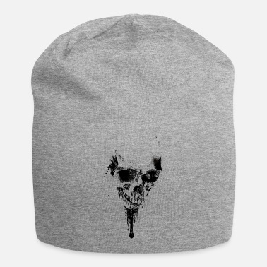 Spray_skull_black - Beanie