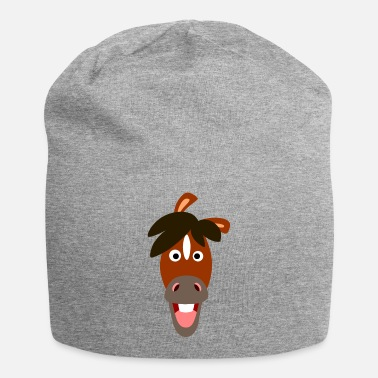 Smiling Cartoon Horse by Cheerful Madness!! - Beanie