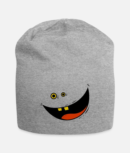 Infctious Caps & Hats - Happy Face - Idiotic Cartoon T-Shirt - Beanie heather gray