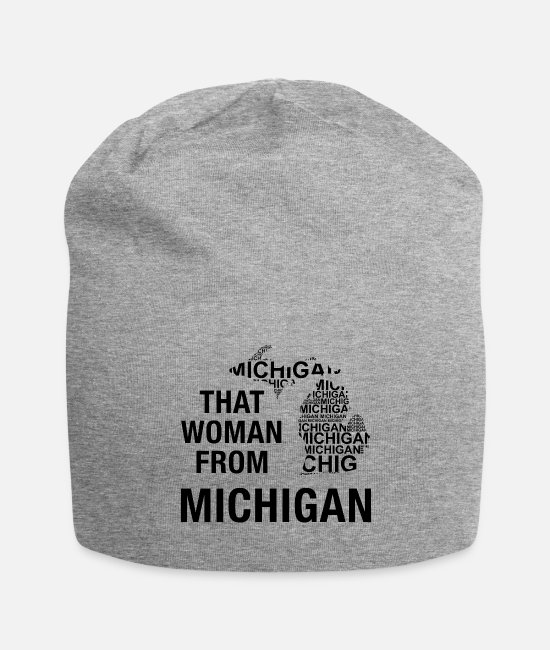 Wife Caps - That woman from Michigan - Beanie heather gray