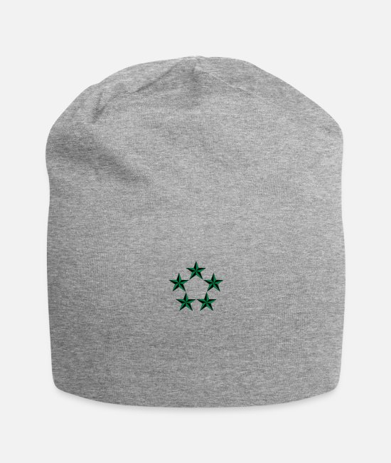 Five Star General Caps & Hats - General of the Army GA Rank, Mision Militar ™ - Beanie heather gray
