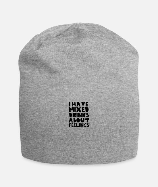 Feeling Caps & Hats - I Have Mixed Drinks About Feelings - Beanie heather gray