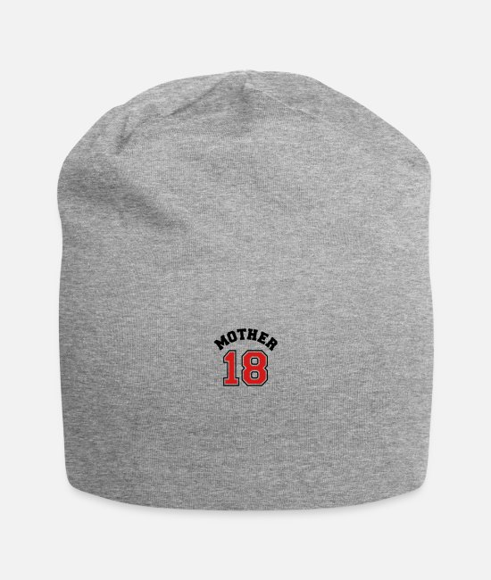 Pregnancy Caps & Hats - Mom 18 - Mother 2018 - Pregnancy - Baby - Family e - Beanie heather gray