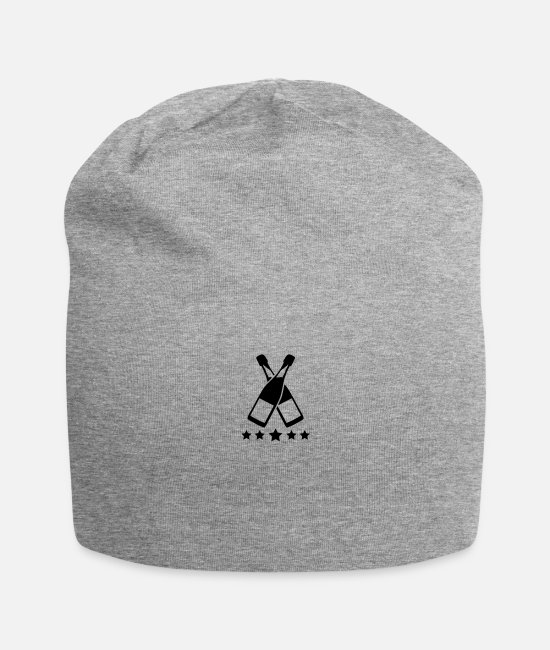 Party Caps & Hats - champagne_logo_t1 - Beanie heather gray
